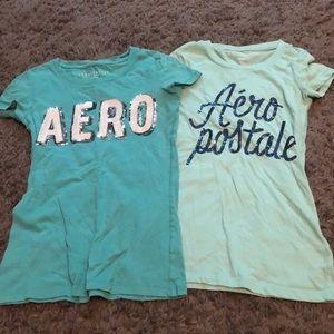 Juniors Aeropostale shirts teal blue XS